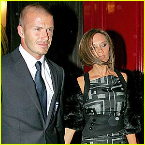 David Beckham's Celebratory Dinner Date