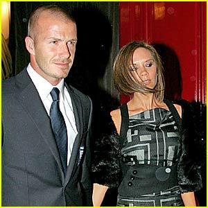David Beckham's Celebratory Dinner Date
