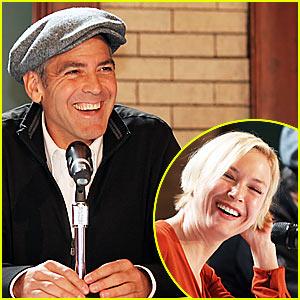 Clooney Can't Get Enough of His Newsboy Cap