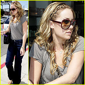 Lauren Conrad Gets Crazy Curls