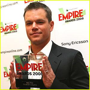 Matt Damon @ Empire Awards 2008