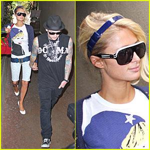 Paris Hilton & Benji Madden Get Grilled