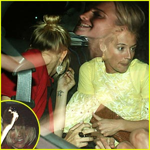 Sienna Miller & Cat Deeley's Dinner Date