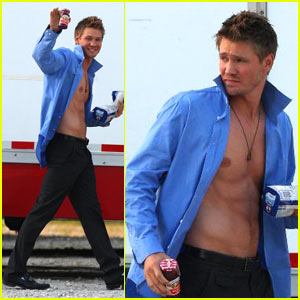 Chad Michael Murray is Shirtless