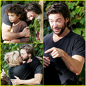 Hugh Jackman Gives Goodbye Kisses