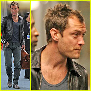 Jude Law Films 'The Imaginarium of Doctor Parnassus'