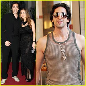 Adrien Brody Gets Meshy in Milan