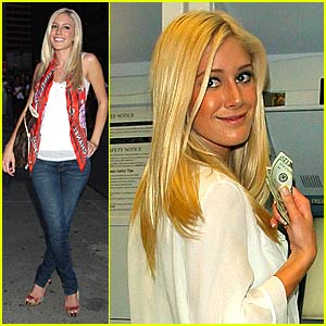 Heidi Montag Draws $60 From ATM