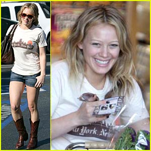 Hilary Duff is a New York Cowboy