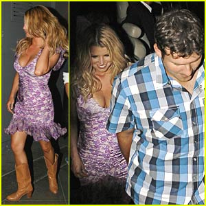 Jessica Simpson is Plush in Purple
