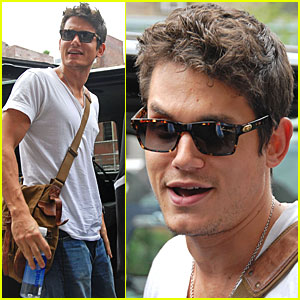 John Mayer Drinks Jen's Water