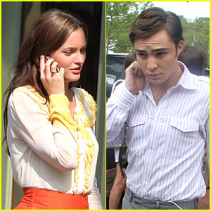 Leighton and Ed are Gossip Girl Gabbers