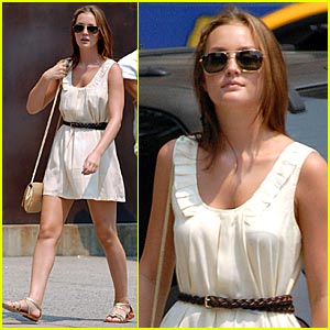 Leighton Meester Endures The NYC Heatwave