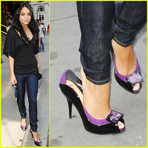 Vanessa Hudgens Identifies With Purple Pumps