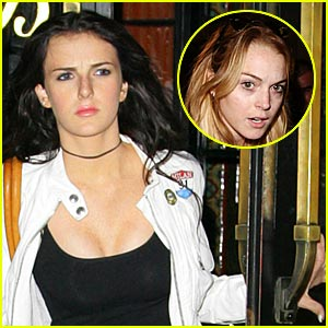 Lohan breast implant
