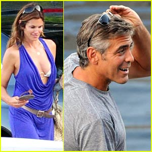 George Clooney Catches Cindy Crawford