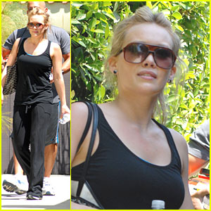 Hilary Duff Picks Up Protein Powder