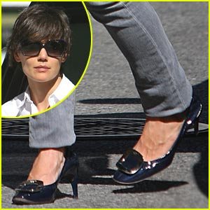 Katie Holmes is a Buckled Babe