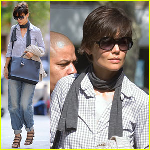 Katie Holmes is Plaid Pretty
