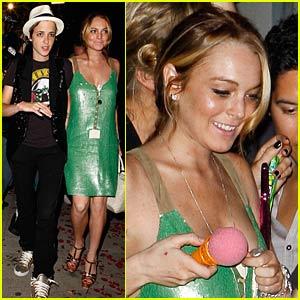 Lindsay Lohan Goes Green