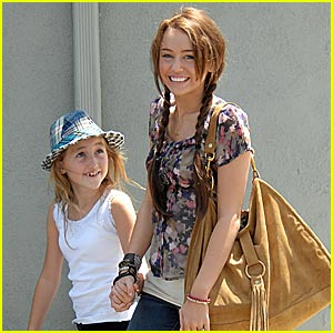 Miley Cyrus is Pigtails Pretty | Miley Cyrus : Just Jared