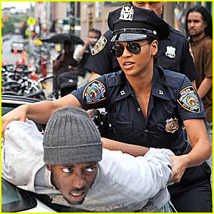 Beyonce Role Plays Police Officer