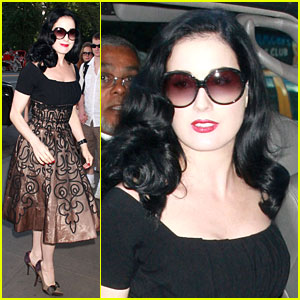 Dita Von Teese is a Hotel Hopper