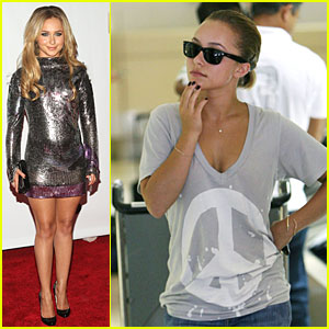 Hayden Panettiere Has a Peace Party