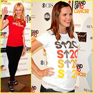 Jennifer Garner Stands Up 2 Cancer