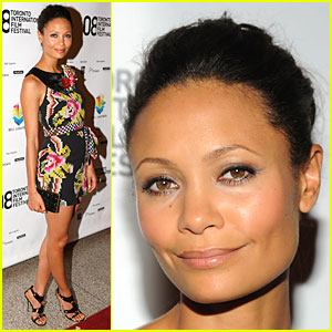 Thandie Newton Gets Flower Fierce