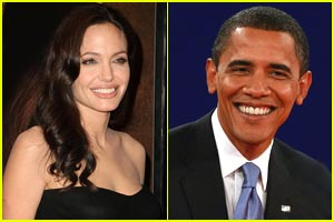 Angelina Jolie Backs Barack Obama?