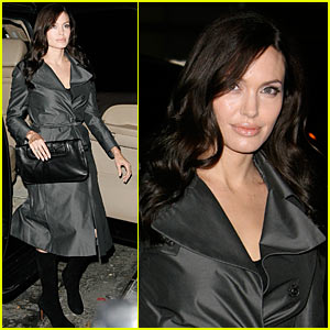 Angelina Jolie -- Trench Coat Kill
