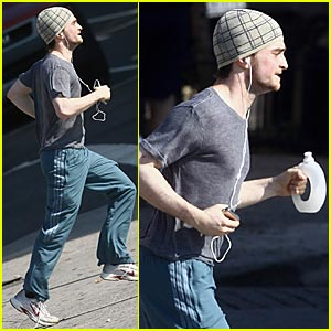 Daniel Radcliffe Jogs For Joy