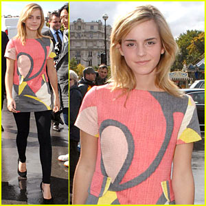 Emma Watson Enjoys Giambattista Valli