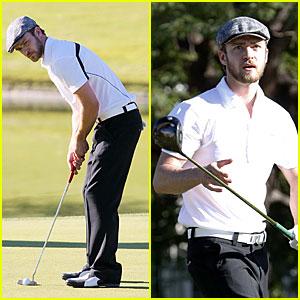 Justin Timberlake Goes Golfing For Children