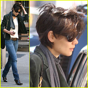 Katie Holmes' Hair Flies Away