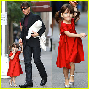 Suri Cruise Skips To It