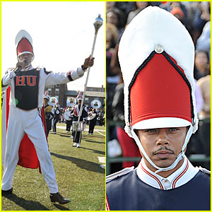 Terrence Howard Leads Homecoming Marching Band