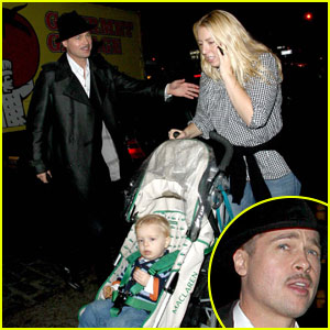 Brad Pitt Munches at Mercer Kitchen Brad Pitt Just Jared