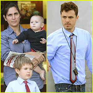 Former husband and wife: Casey Affleck and Summer Phonix with their children: two sons
