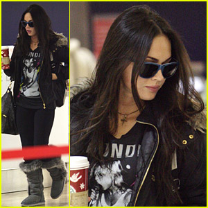 Megan Fox Is In Love At LAX