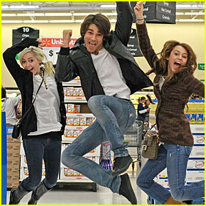 Miley Cyrus and Justin Gaston are Walmart Wacky