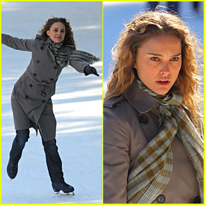 Natalie Portman is Skating Silly