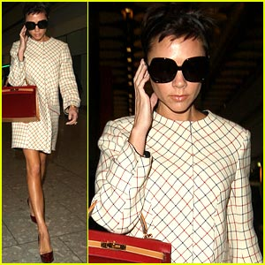 Victoria Beckham's Heathrow Homecoming