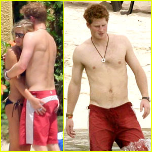 Prince Harry is a Shirtless Hot Potato