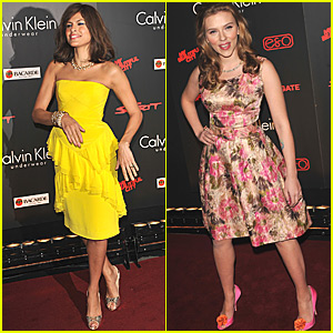 Eva Mendes & Scarlett Johansson Show Their Spirit