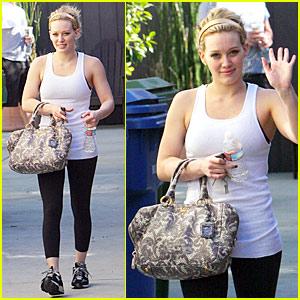 Hilary Duff Gets Pasternak Pumped
