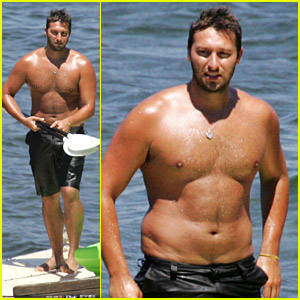 Former Australian Olympic medalist swimmer Ian Thorpe spends the day at ...