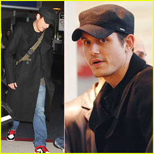 John Mayer Lands At LAX
