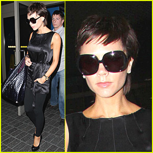 Victoria Beckham Arrives at LAX